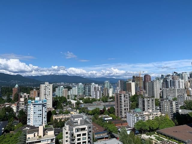 View from 2508 to North SHore and Coal Harbour
