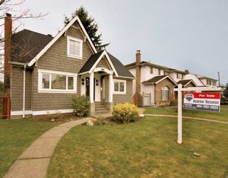 Photo 1: 2731 OLIVER in Vancouver: Arbutus House for sale (Vancouver West)  : MLS®# V693406