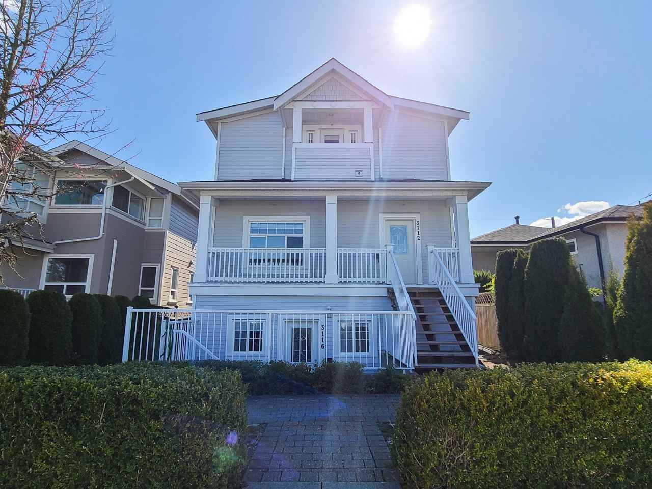 Main Photo: 3116 KINGS Avenue in Vancouver: Collingwood VE Townhouse for sale (Vancouver East)  : MLS®# R2569702