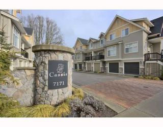 "Photo 1: 4 7171 STEVESTON Highway in Richmond: Broadmoor Townhouse for sale in ""CASSIS"" : MLS®# V754791"