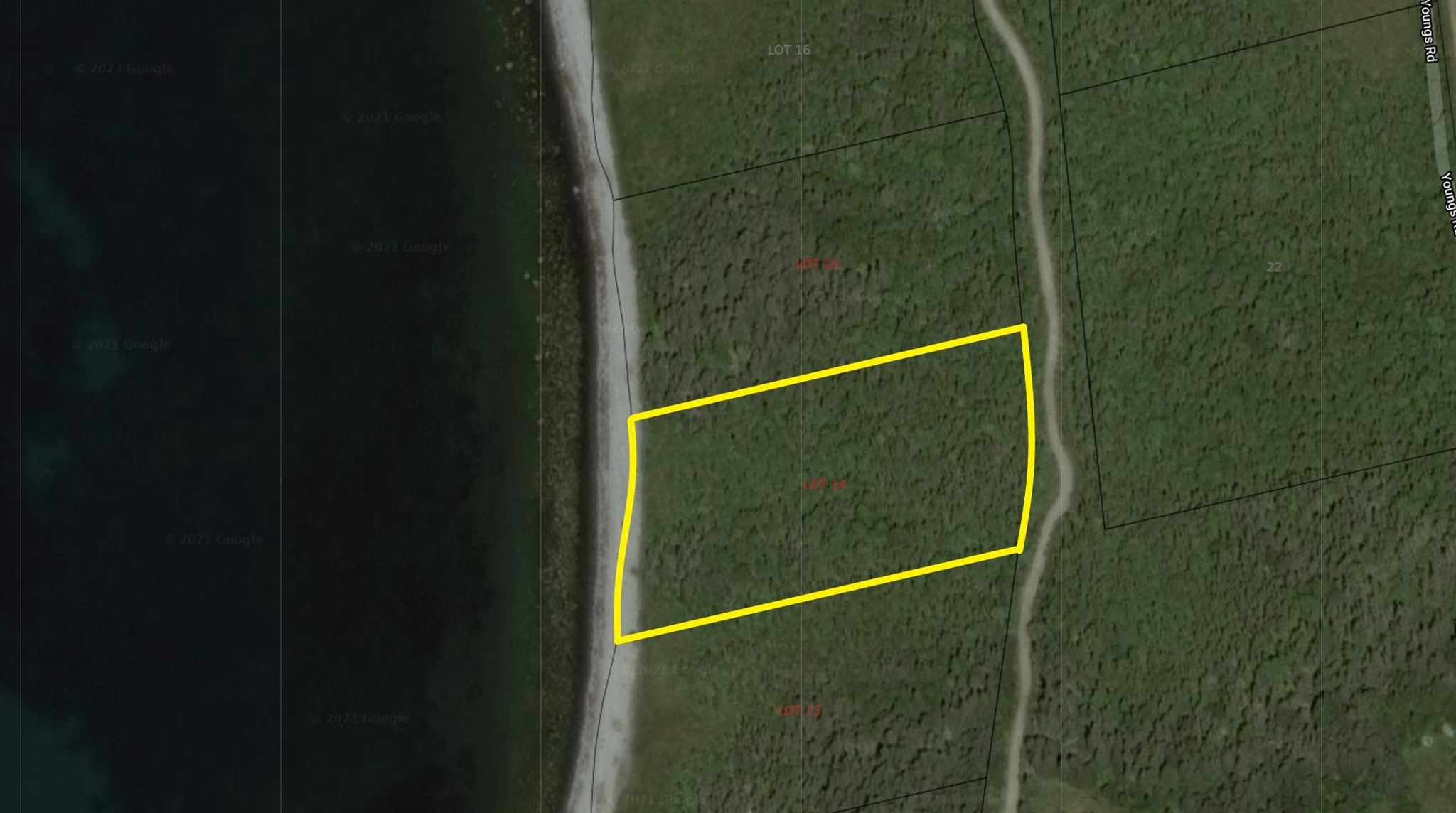 Main Photo: Lot 14 Youngs Road in East Green Harbour: 407-Shelburne County Vacant Land for sale (South Shore)  : MLS®# 202105635