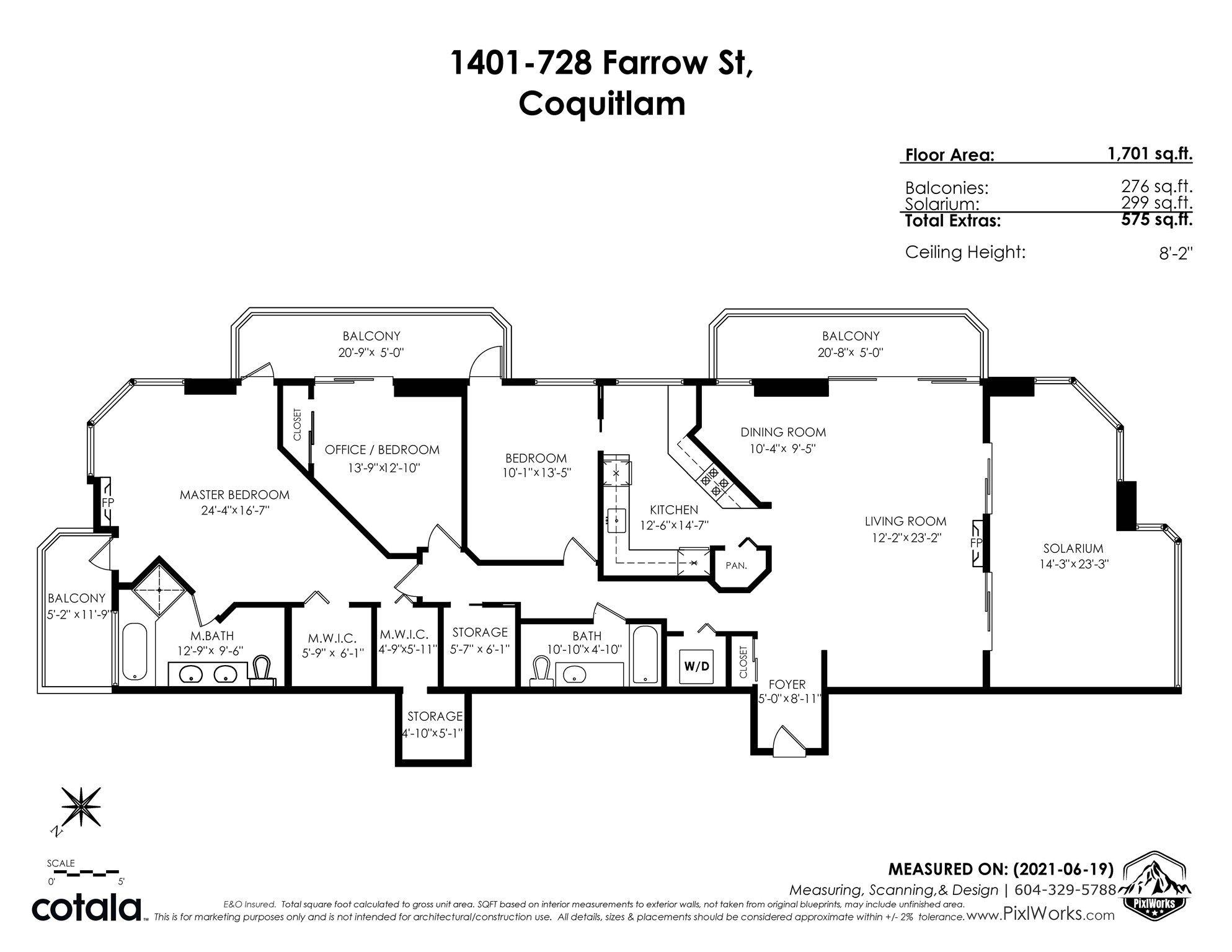 "Photo 40: Photos: 1401 728 FARROW Street in Coquitlam: Coquitlam West Condo for sale in ""THE VICTORIA"" : MLS®# R2615321"
