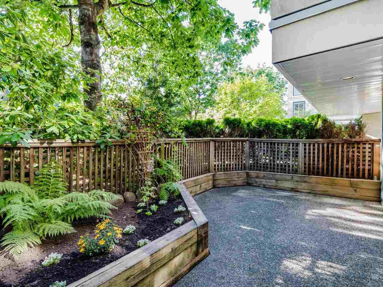 end unit with private 200+ sf garden patio
