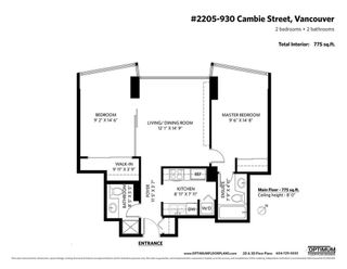 """Photo 20: 2205 930 CAMBIE Street in Vancouver: Yaletown Condo for sale in """"Pacific Place Landmark II"""" (Vancouver West)  : MLS®# R2394764"""