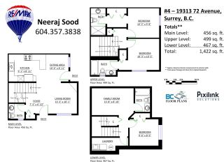 """Photo 2: C4 19313 72ND Avenue in Surrey: Clayton Townhouse for sale in """"RHAPSODY HILL"""" (Cloverdale)  : MLS®# R2050509"""