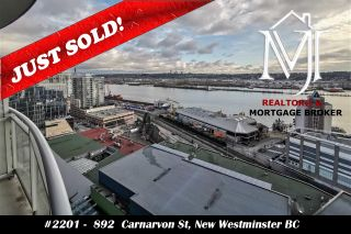 Photo 1: 2201 892 CARNARVON STREET in New Westminster: Downtown NW Condo for sale : MLS®# R2499563