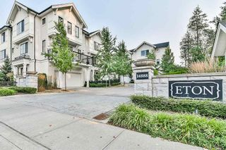 "Photo 1: 7 14888 62 Avenue in Surrey: Sullivan Station Townhouse for sale in ""Eton"" : MLS®# R2194770"