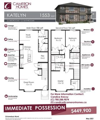 Photo 25: 18 AMESBURY Wynd: Sherwood Park House Half Duplex for sale : MLS®# E4226907