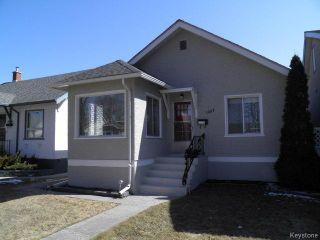 Photo 1: 1087 Downing Street in WINNIPEG: West End / Wolseley Residential for sale (West Winnipeg)  : MLS®# 1507817