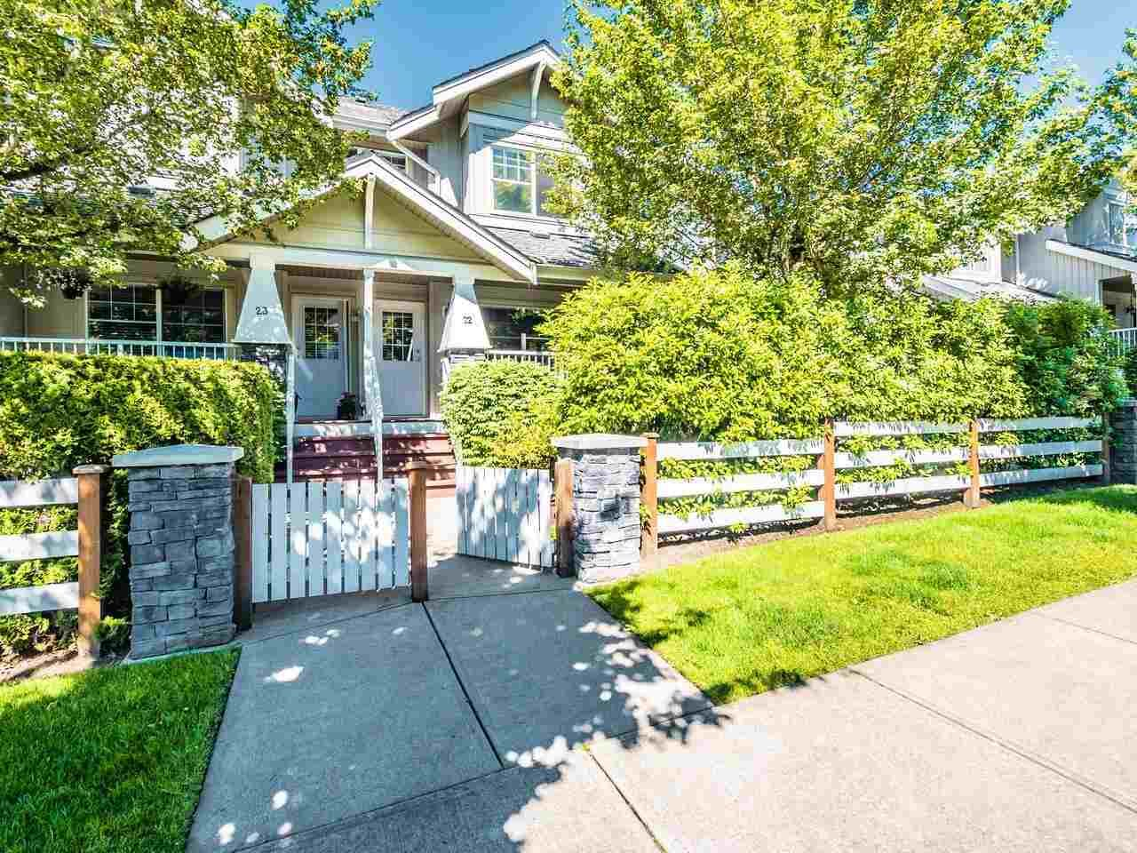 """Main Photo: 22 6568 193B Street in Surrey: Clayton Townhouse for sale in """"Belmont at Southlands"""" (Cloverdale)  : MLS®# R2589057"""