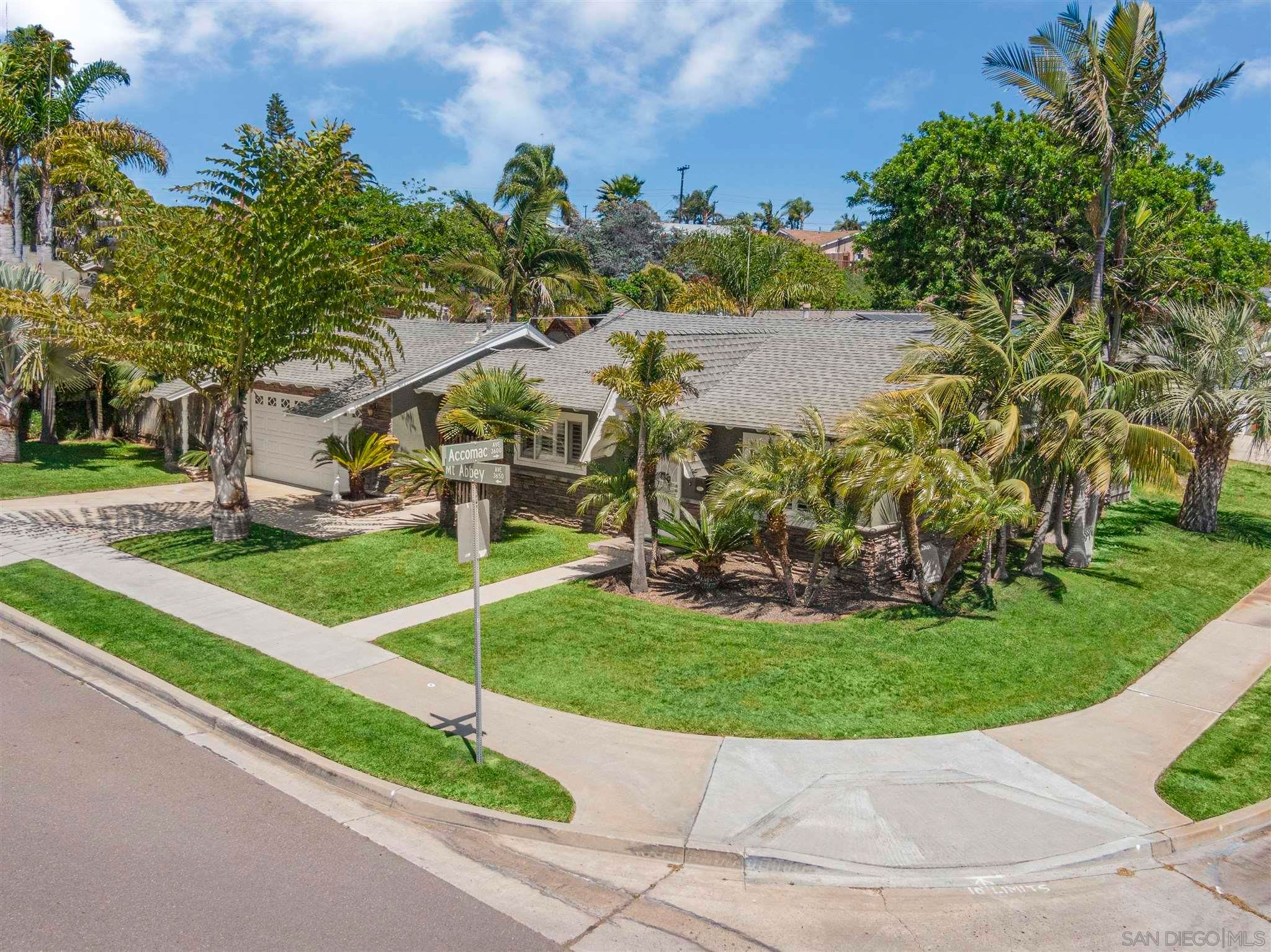 Main Photo: CLAIREMONT House for sale : 3 bedrooms : 3651 Mount Abbey Ave in San Diego
