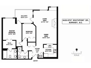 """Photo 10: # 420 6707 SOUTHPOINT DR in Burnaby: South Slope Condo for sale in """"Mission Woods"""" (Burnaby South)  : MLS®# V871813"""