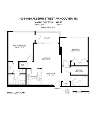 Photo 39: 1008 1060 ALBERNI Street in Vancouver: West End VW Condo for sale (Vancouver West)  : MLS®# R2621443