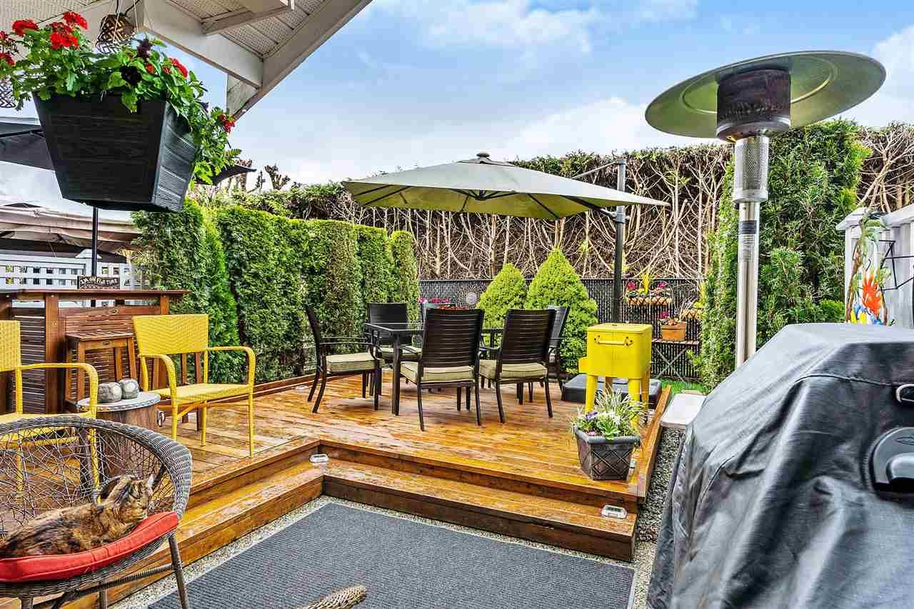 Fenced, Private Rear Yard with awesome sundeck