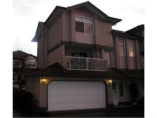 """Photo 1: 19 2538 PITT RIVER Road in Port Coquitlam: Mary Hill Townhouse for sale in """"RIVERCOURT"""" : MLS®# V1100563"""