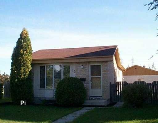 Main Photo: 15 BLAIRMORE GARDENS in WINNIPEG: Transcona Single Family Detached for sale (North East Winnipeg)  : MLS®# 2615286