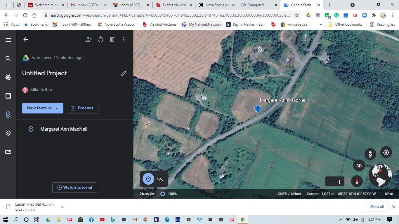 Main Photo: Acreage Highway 337 in Lanark: 302-Antigonish County Vacant Land for sale (Highland Region)  : MLS®# 202109890