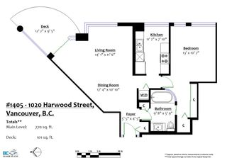 Photo 20: 1405 1020 HARWOOD STREET in Vancouver: West End VW Condo for sale (Vancouver West)  : MLS®# R2179862