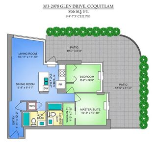 """Photo 20: 303 2978 GLEN Drive in Coquitlam: North Coquitlam Condo for sale in """"Grand Central by Intergulf"""" : MLS®# R2422757"""