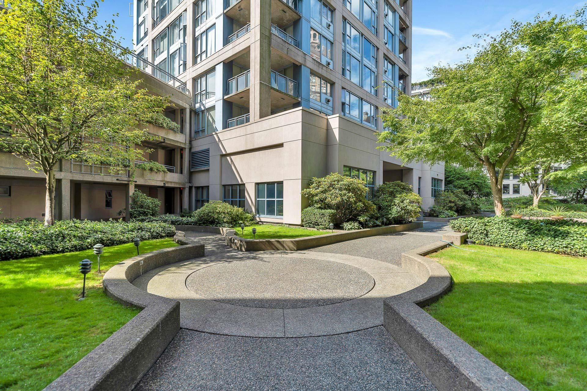 court yard in front of unit
