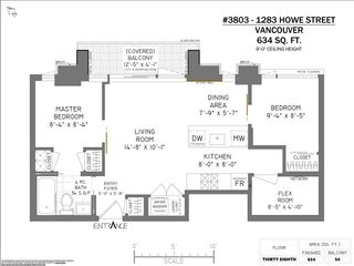 """Photo 23: 3803 1283 HOWE Street in Vancouver: Downtown VW Condo for sale in """"Tate"""" (Vancouver West)  : MLS®# R2592926"""