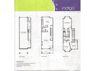 """Photo 13: 12 6852 193RD Street in Surrey: Clayton Townhouse for sale in """"INDIGO"""" (Cloverdale)  : MLS®# F1447121"""