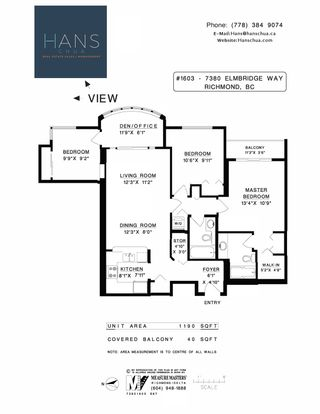 """Photo 20: 1603 7380 ELMBRIDGE Way in Richmond: Brighouse Condo for sale in """"The Residences"""" : MLS®# R2607304"""