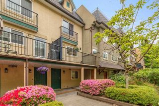 """Photo 1: 17 1561 BOOTH Avenue in Coquitlam: Maillardville Townhouse for sale in """"THE COURCELLES"""" : MLS®# R2581775"""