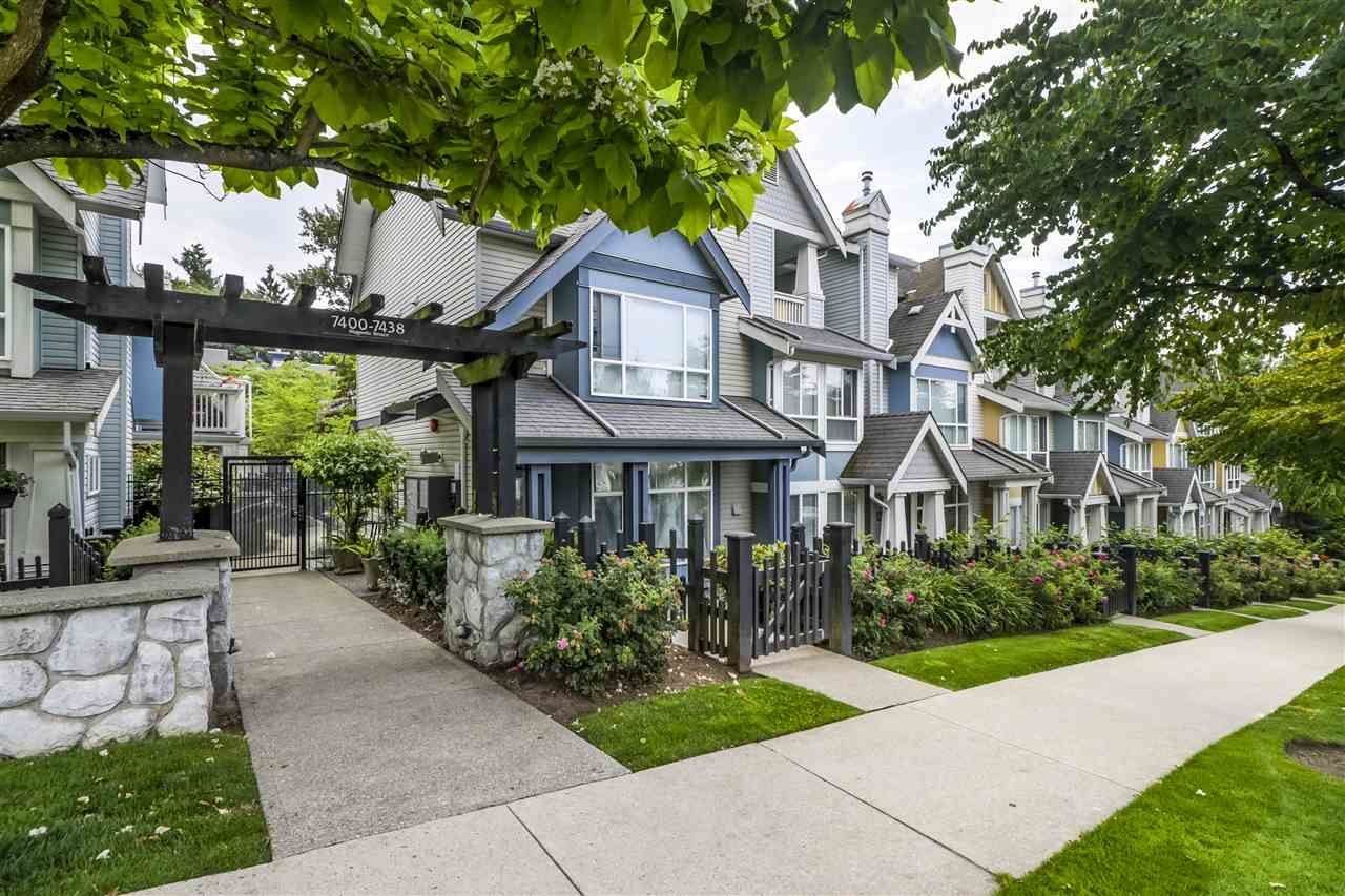 "Main Photo: 7436 MAGNOLIA Terrace in Burnaby: Highgate Townhouse for sale in ""CAMARILLO"" (Burnaby South)  : MLS®# R2493267"