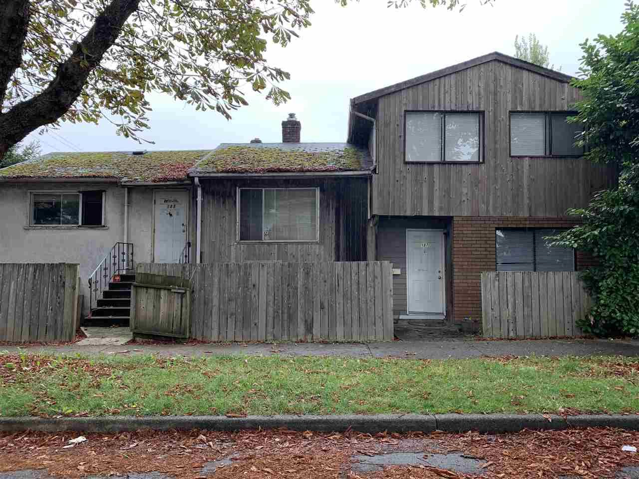 Main Photo: 187 E 39TH Avenue in Vancouver: Main House for sale (Vancouver East)  : MLS®# R2405312