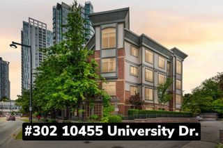 """Photo 1: 302 10455 UNIVERSITY Drive in Surrey: Whalley Condo for sale in """"d'Cor"""" (North Surrey)  : MLS®# R2601458"""