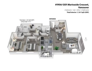 Photo 19: 1906 1201 MARINASIDE CRESCENT in Vancouver: Yaletown Condo for sale (Vancouver West)  : MLS®# R2582285