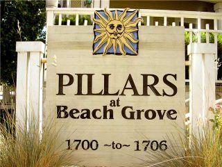 "Photo 1: 114 1702 56TH Street in Tsawwassen: Beach Grove Townhouse for sale in ""Beach Grove"" : MLS®# V893911"
