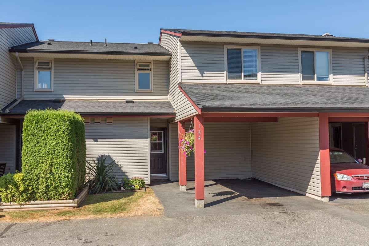 "Main Photo: 144 27456 32 Avenue in Langley: Aldergrove Langley Townhouse for sale in ""Cedar Park Estates"" : MLS®# R2102439"