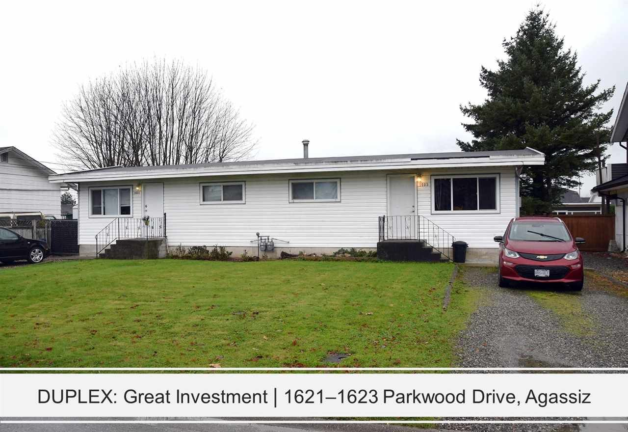 Main Photo: 1621 - 1623 PARKWOOD Drive: Agassiz Duplex for sale : MLS®# R2552734