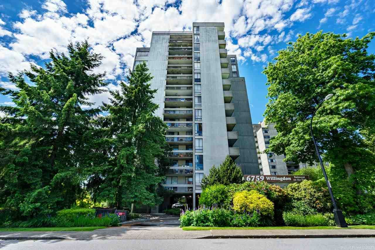 """Main Photo: 1105 6759 WILLINGDON Avenue in Burnaby: Metrotown Condo for sale in """"Balmoral on the Park"""" (Burnaby South)  : MLS®# R2591487"""