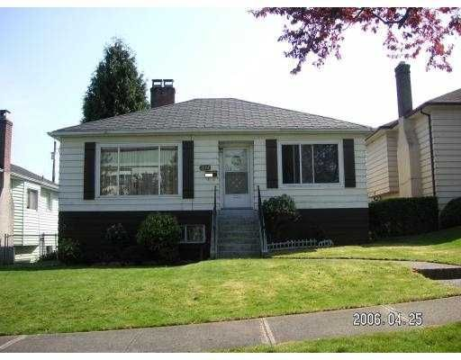 Main Photo: 3114 GRANT ST in Vancouver: Renfrew VE House for sale (Vancouver East)  : MLS®# V588095