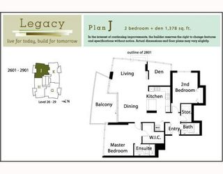 """Photo 2: 2901 5611 GORING Street in Burnaby: Central BN Condo for sale in """"LEGACY"""" (Burnaby North)  : MLS®# V749346"""