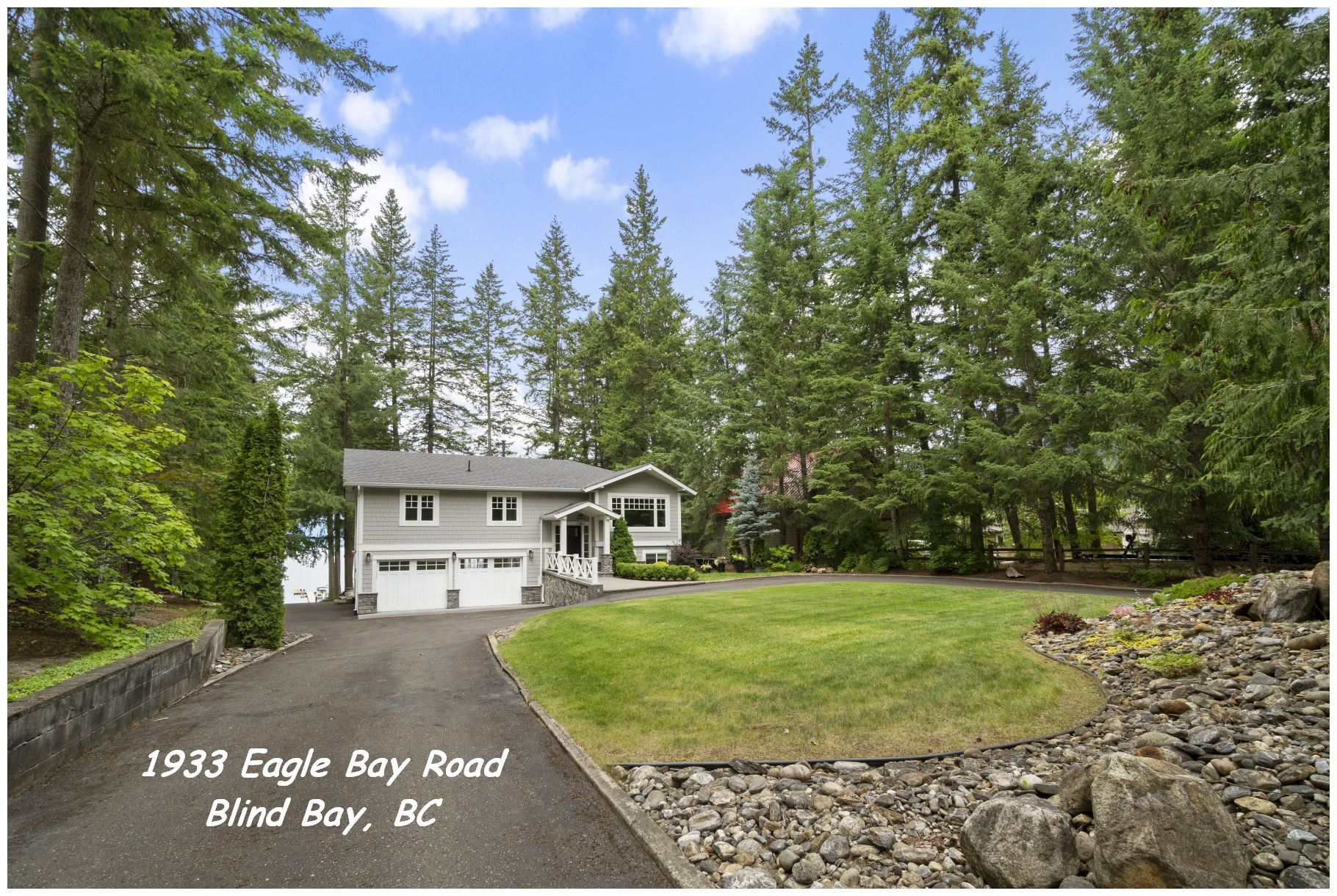 Main Photo: 1933 Eagle Bay Road: Blind Bay House for sale (Shuswap Lake)