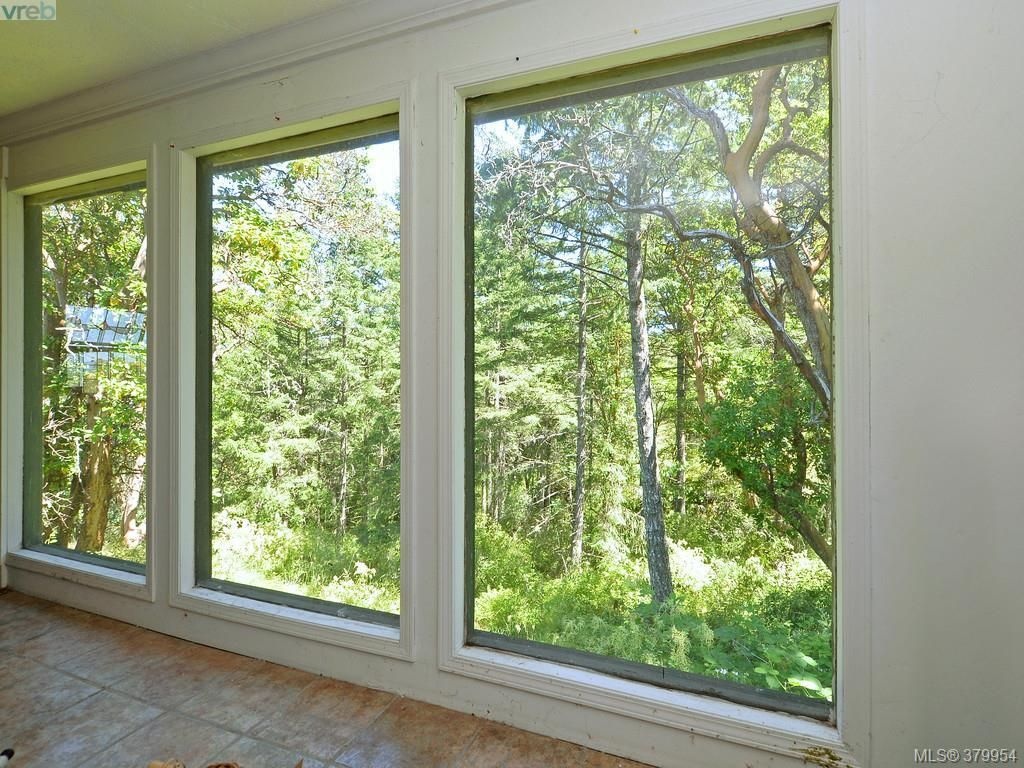 These windows and private woodland view are in the extension that was built for a Master, but currently used for storage.