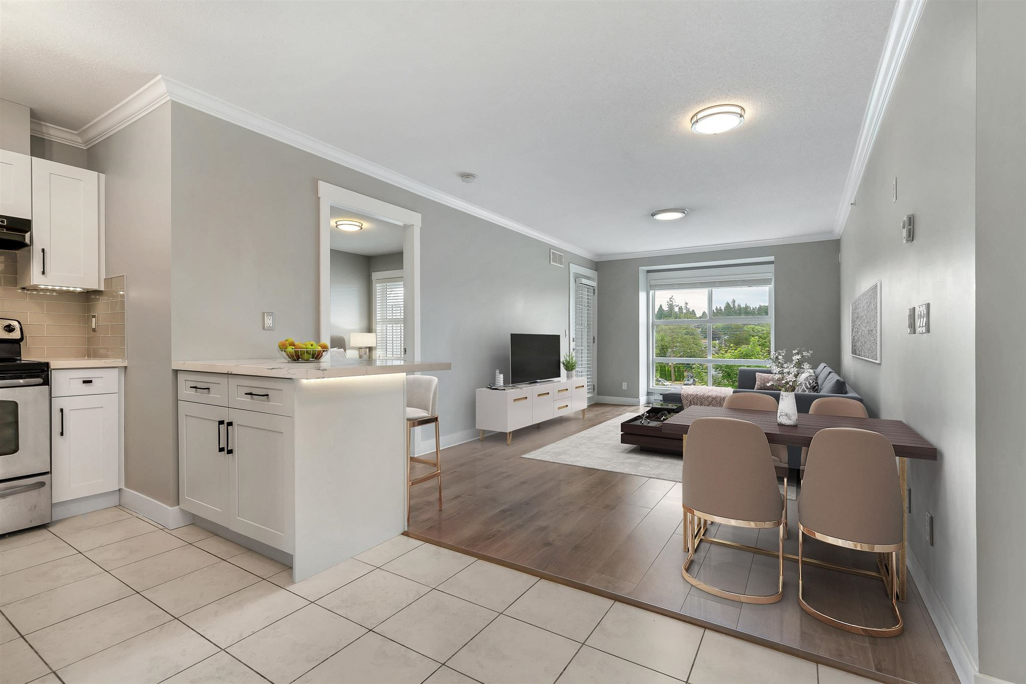 """Main Photo: 416 17769 57 Avenue in Surrey: Cloverdale BC Condo for sale in """"CLOVER DOWNS ESTATES"""" (Cloverdale)  : MLS®# R2601753"""
