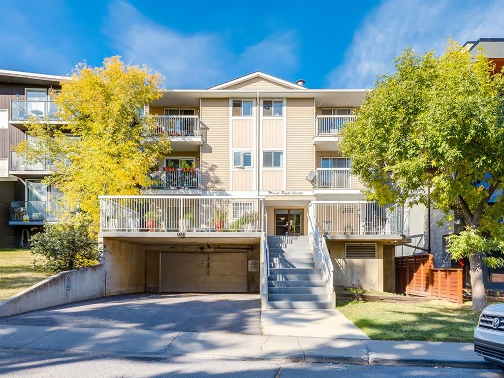 Main Photo: 102 1721 13 Street SW in Calgary: Lower Mount Royal Apartment for sale : MLS®# A1086615