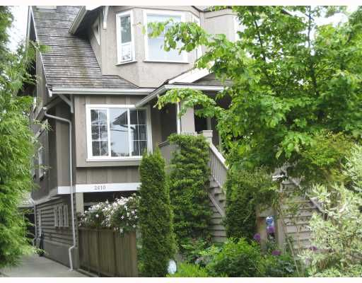 Main Photo: 2610 W 1ST Avenue in Vancouver: Kitsilano Townhouse for sale (Vancouver West)  : MLS®# V715247