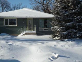 Photo 1: 72 Woodlands Crescent in WINNIPEG: Westwood / Crestview Residential for sale (West Winnipeg)  : MLS®# 1400162