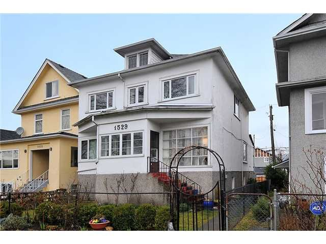 Main Photo: 1529 FRANCES ST in : Hastings House for sale : MLS®# V874977