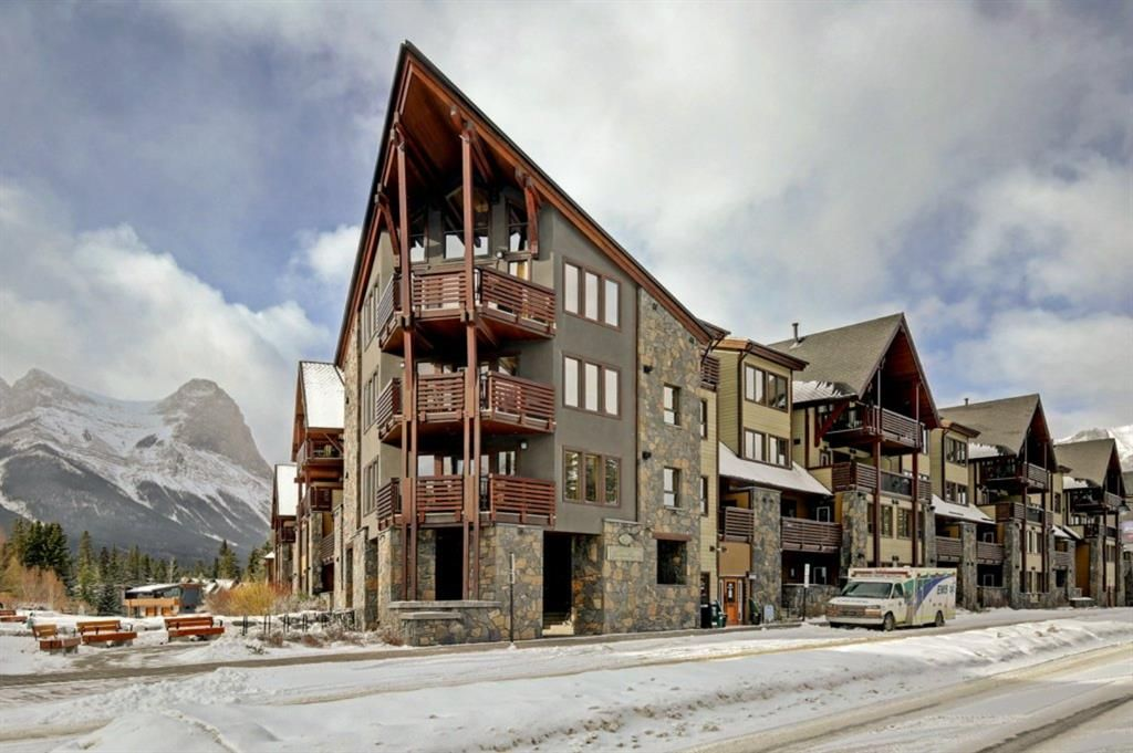 Main Photo: 201 379 Spring Creek Drive: Canmore Apartment for sale : MLS®# A1072923