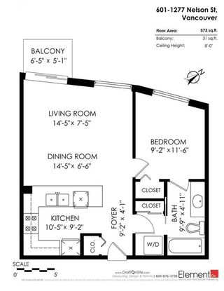 """Photo 19: 601 1277 NELSON Street in Vancouver: West End VW Condo for sale in """"The Jetson"""" (Vancouver West)  : MLS®# R2221367"""