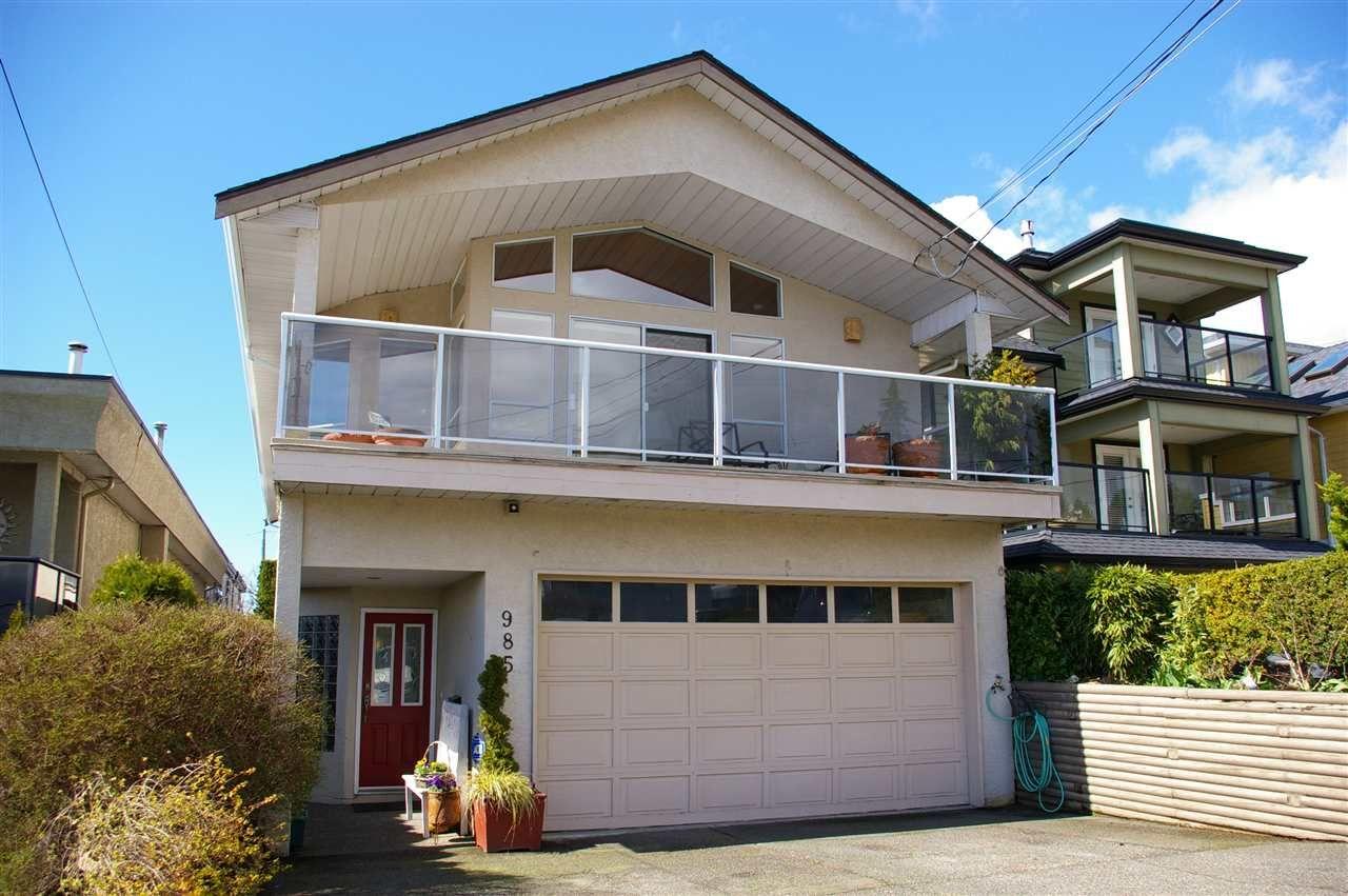 "Main Photo: 985 KEIL Street: White Rock House for sale in ""White Rock East Hillside"" (South Surrey White Rock)  : MLS®# R2170325"