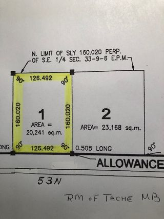 Photo 7: 0 53N Road: RM Tache Vacant Land for sale (R05)  : MLS®# 202109286