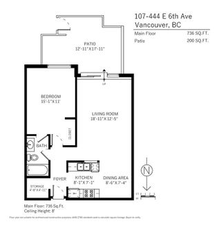 """Photo 19: 107 444 E 6TH Avenue in Vancouver: Mount Pleasant VE Condo for sale in """"Terrace Heights"""" (Vancouver East)  : MLS®# R2221611"""